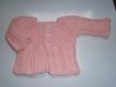 Brassière bébé tricot laine layette fait main