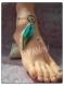 Bijou de pied attrape rêve turquoise marron