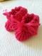 Très beaux chaussons en laine douce fait main au crochet