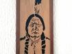 Portrait encadré en bois découpé du chef sioux sitting bull