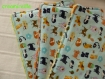 Bavoir bandana pour petites bavouilles et lingettes tissu