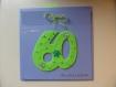 Carte anniversaire brodée avec chiffre  **sur commande**