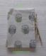 Protège carnet de santé / housse en tissu coton gris/beige/vert modèle