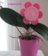 Fleur à piquer en feutrine rose clair et rose fuchsia