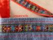 Sacoche en jean recyclée, décors style indien
