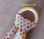 Hochet tissu jaune