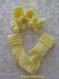 Chaussons et chaussettes bébé jaune