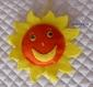 Soleil en feutrine porteur de message ** sur commande**