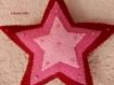 Etoile de noël feutrine et perles en dégradée rose