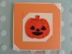 Carte citrouille pour halloween