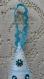 Sapin de noël en feutrine blanche et décors turquoise