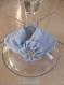 Headband / bandeau tissu jersey bleu