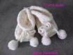 Bonnet et chaussons bébé laine fantaisie