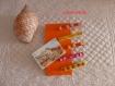 Pinces à linge en bois décorées feutrine, perles et sequins