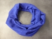 Snood polyester bleu roi