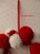 Couronne de noël pompons rouge et blanc