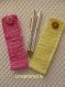 Etui 2 stylos crochet rose blanc