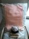 Couverture bébé rose saumon six points