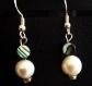 Boucles d'oreilles perle d'eau douce et abalone