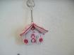 Porte clés chat noël décoration