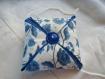 Coussin fleur bleue parfumé lavande pique épingle