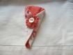 Pochette étui à ciseaux rose manucure broderie