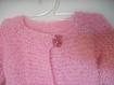 Veste bébé fille gilet tricot 2 ans rose