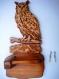 Grand duc en bois, porte papier hygiénique
