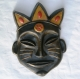 Masque africain en céramique