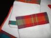 Serviette de toilette et deux gants avec tissu madras