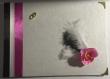 Livre d'or de mariage orchidée avec coins or