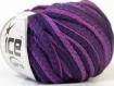 Pelote de laine ice frilly couleur poupre et bordeau