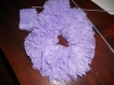 Echarpe dentelle à volant ou simple foulard d'été couleur  lilac