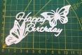 Scrapbooking découpe happy birthday papillon