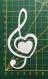 Scrapbooking découpe cléf de sol avec coeur