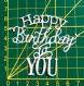 Scrapbooking découpe happy birthday to you