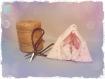 Pochette berlingot rose minky