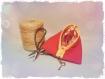 Pochette berlingot rouge