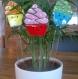 Décoration de plantes - cupcake - gâteaux -coloré