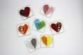 Magnet - aimant - coeur - je t'aime -coloré -verre fusionné