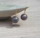 Collier de perles rondes cuivrées