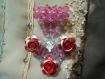 Broche cœur perlée et ses fleurs d'aluminium