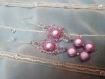 Parure rose trois pièces en perles magiques