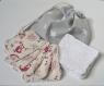 10 lingettes démaquillantes lavables visage - hiboux + sac de lavage