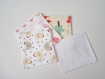 Lingettes lavables pour bébé ou lingettes démaquillantes
