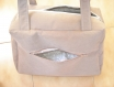 Sac cabas ou petit sac à langer - tissu épais marron beige