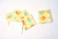 10 lingettes démaquillantes visage lavables - fleurs multicolores