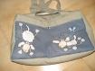 Petit sac à langer molletonné - nombreuses poches - motifs moutons