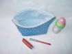 Trousse de toilette imperméable ou trousse à maquillage - coton enduit