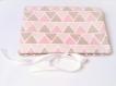 Pochette pour couches et lingettes - pochette de rangement bébé rose et pois